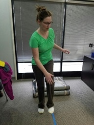 Neuro-Rehab patient working on an exercise