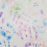 DDC & NC handprints on the canvas